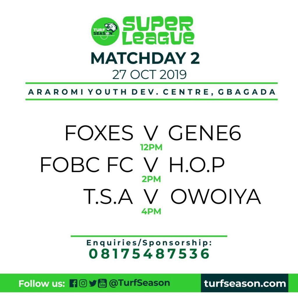 Matchday 2 - Turf Season Super League