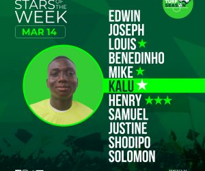 Emmanuel Kalu STARS OF THE WEEk Mar 14 2021
